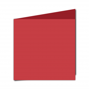 Large Square Post Box Red Card Blanks