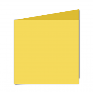 Large  Square  Card  Blank  Daffodil  Yellow