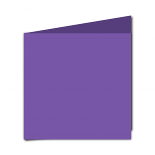 Large Square Dark Violet Card Blanks