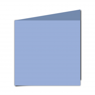 Large  Square  Card  Blank  Marine  Blue