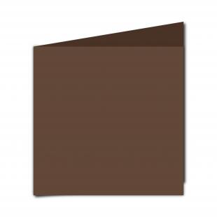 Large Square Mocha Brown Card Blanks