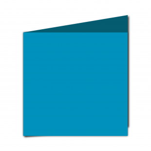 Large Square Ocean Blue Card Blanks