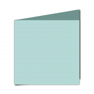 Large Square Pale Turquoise Card Blanks