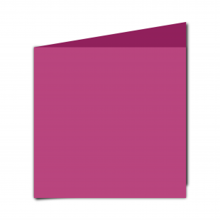 Large Square Raspberry Pink Card Blanks