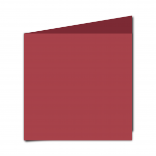 Large Square Ruby Red Card Blanks