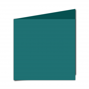 Large Square Teal Card Blanks