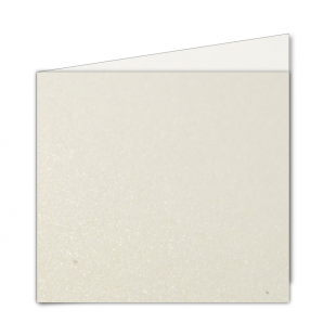 Large Square Ivory Pearlised Card Blanks