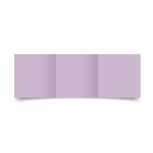 Small Square Trifold Lilac Card Blanks