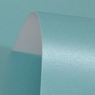 Sky Blue Pure Pearl Card Blanks One Sided 300gsm