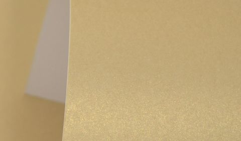 Harvest Gold Pearlised Card Single Sided 300gsm