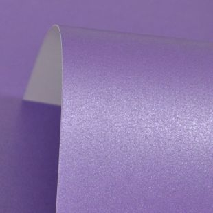 Lavender Purple Cosmos Pearl Card Blanks One Sided 300gsm