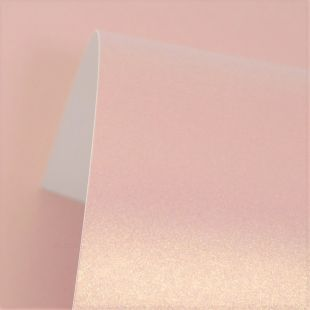 Rose Gold Pure Pearl Card Blanks Double Sided 300gsm