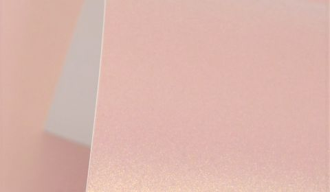 Rose Gold Pure Pearl Card Single Sided 300gsm
