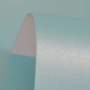 Sea Blue Pure Pearl Card Blanks One Sided Pearlised 300gsm