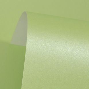 Spring Green Pure Pearl Card Blanks One Sided 300gsm