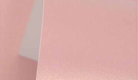 Rose Gold Cosmos Pearl Card Blanks Double Sided 300gsm