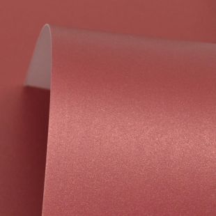 Royal Red Cosmos Pearl Card Blanks One Sided 300gsm