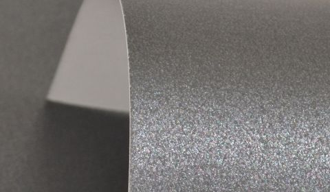 Charcoal Black Pure Pearl Card Blanks One Sided 300gsm