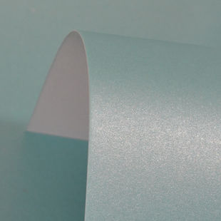 Lustre Print Silver Sea Blue 300Gsm