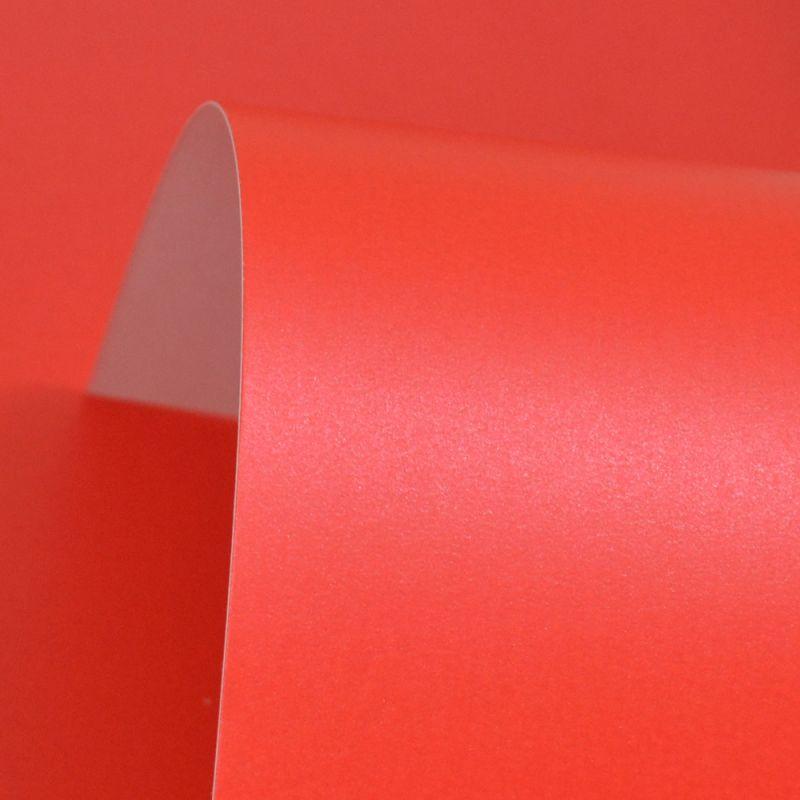 Lustre Print Silver Xmas Red 300Gsm