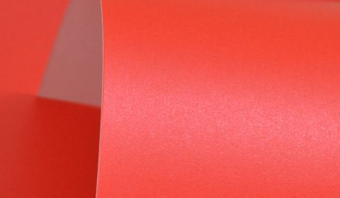 Xmas Red Pure Pearl Card Single Sided 300gsm