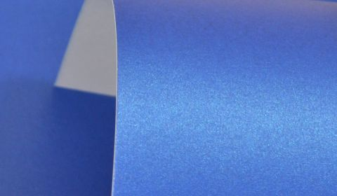 Yale Blue Pure Pearl Card Blanks One Sided 300gsm