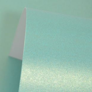 Turquoise Pure Pearl Card Blanks One Sided 300gsm