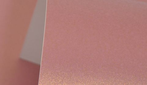 Mauve Gold Pure Pearl Card Blanks One Sided 300gsm