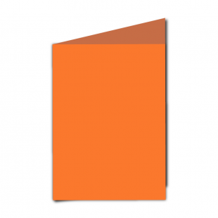 "5"" x 7"" Mandarin Orange Card Blanks"