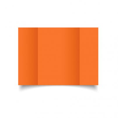 Mandarin Orange A5 Gate Fold Card Blank 01