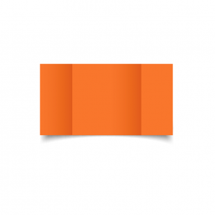 Large Square Gatefold Mandarin Orange Card Blanks