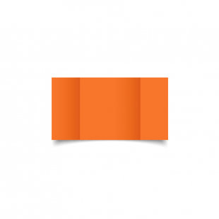 Mandarin Orange Small Square Gate Fold Card Blank 01
