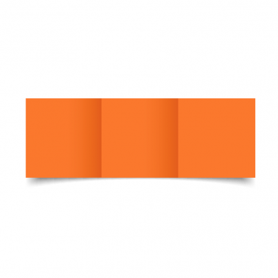 Mandarin Orange Small Square Tri Fold Card Blank 01