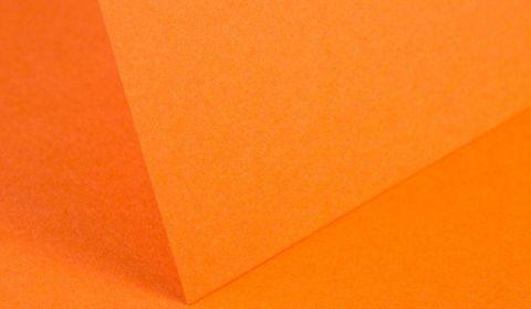 Mandarin Orange Card Blanks Double Sided 240gsm