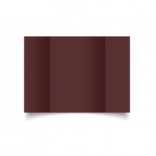 A5 Gatefold Maroon Card Blanks