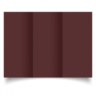 DL Trifold Maroon Card Blanks