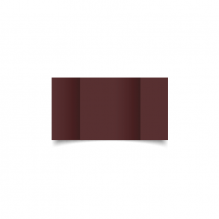 Small Square Gatefold Maroon Card Blanks