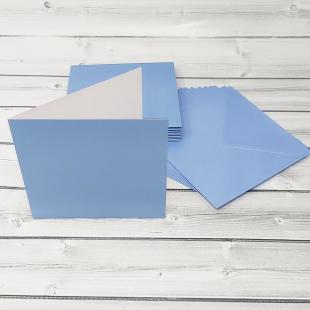 Maya Blue Square Card Blanks & Envelopes - Pack of 10