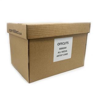 All Media Artist Paper Natural White 300gsm Mega Box of Offcuts