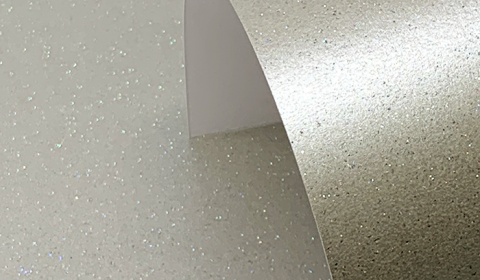 Mercury Silver Sparkled Pearlescent Card 300gsm