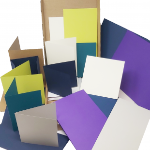 Mystery Box of 50 Card Blanks with White Envelopes