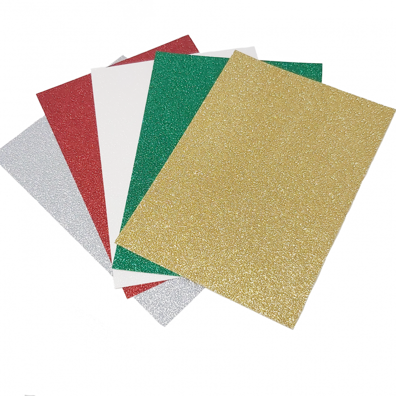 Mixed Christmas Glitter Card Pack