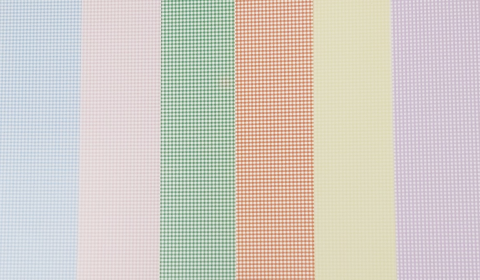 Assorted Colours Gingham Card Pack 300gsm