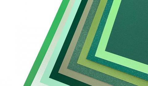Green Mixed Card Pack A4 | 10 Sheets