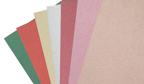 Mixed Pack of Non-Shed Glitter Card | 7 Sheets