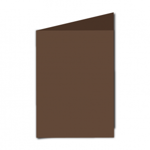 "5"" x 7"" Mocha Brown Card Blanks"