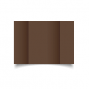 A5 Gatefold Mocha Brown Card Blanks