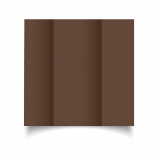 DL Gatefold Mocha Brown Card Blanks