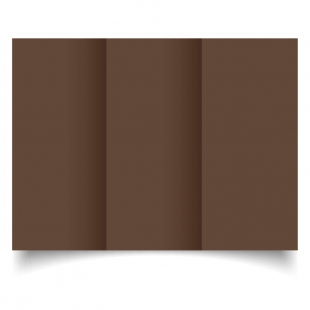 DL Trifold Mocha Brown Card Blanks