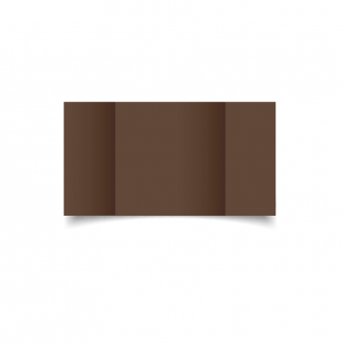 Large Square Gatefold Mocha Brown Card Blanks